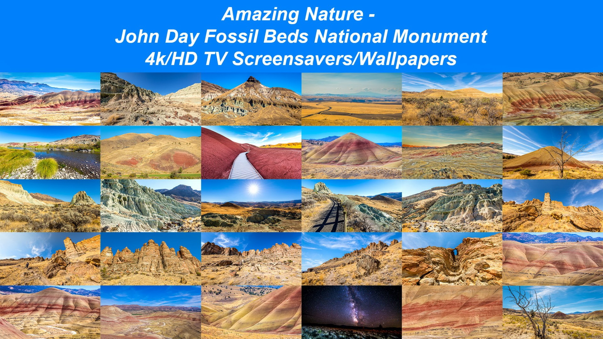 john day fossil beds national monument tv screensavers proartinc amazing nature john day fossil beds national monument hd 4k 8k tv screensavers