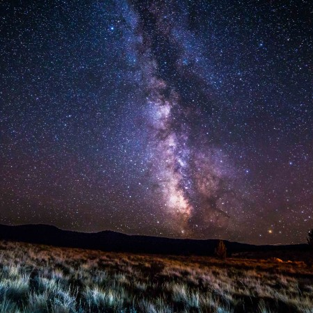 Starry sky near Barnhouse Campground, John Day Fossil Beds National Monument