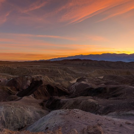 Sunset at the Artist's Drive, Death Valley National Park