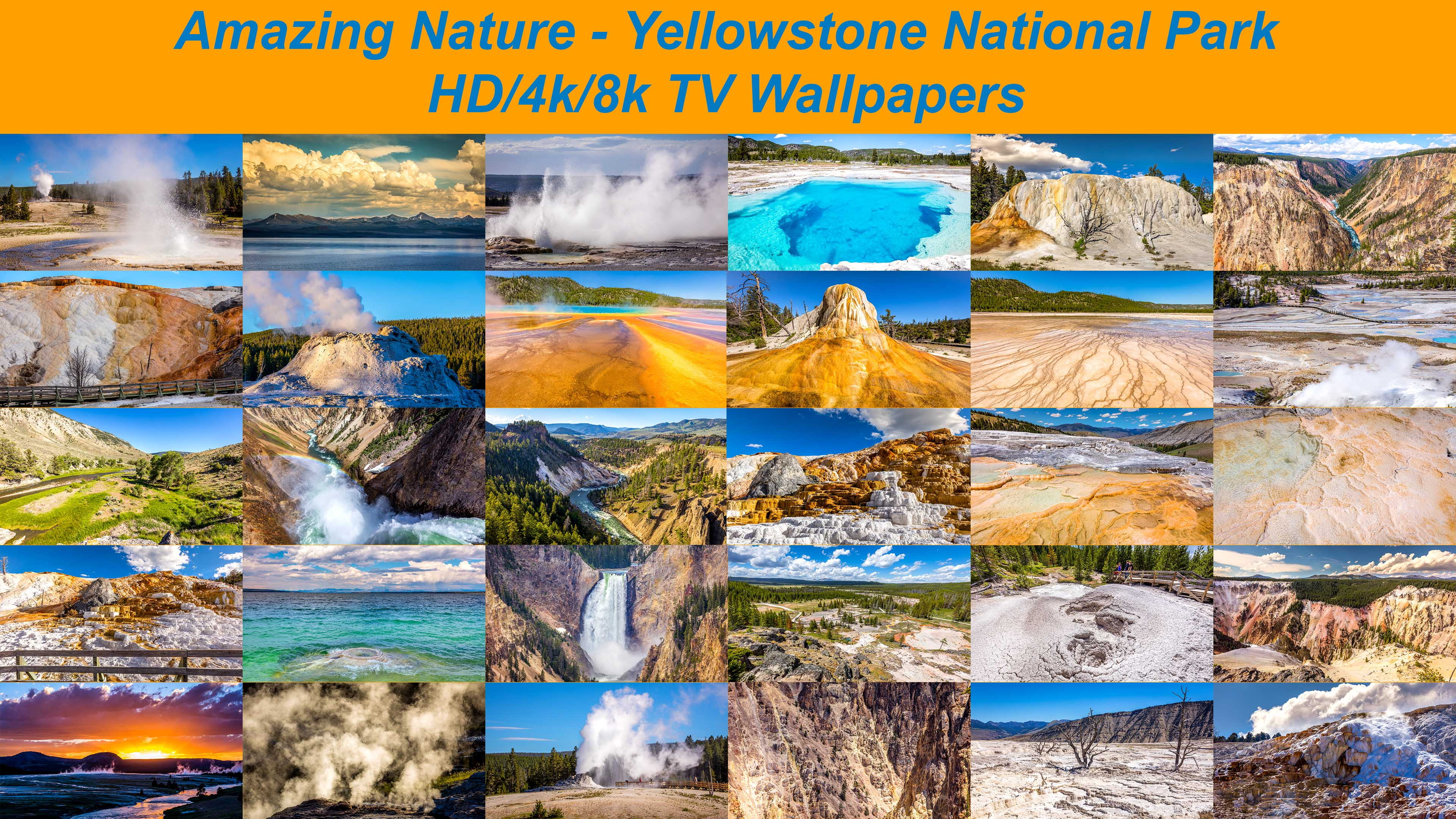 Amazing Nature Yellowstone National Park 8k 4k Hd Tv Wallpapers
