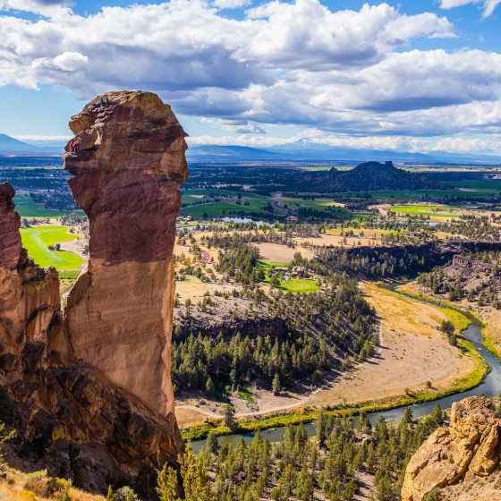 View from Misery Ridge Trail, Smith Rock State Park