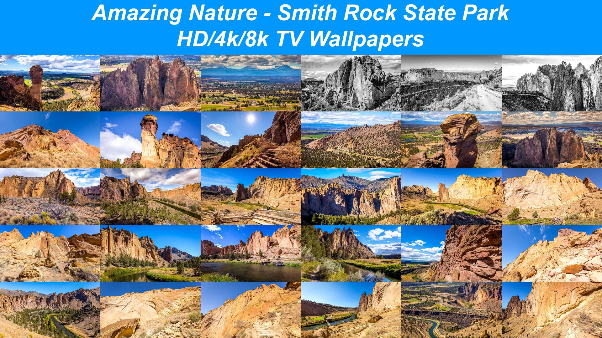 Amazing Nature 8k4khd Tv Screensaverswallpapers Smith Rock State Park Oregon