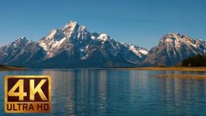 Jackson Lake at Grand Teton National Park, 4K Nature Relaxation Video