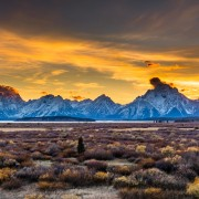 Sunset at Grand Teton National Park
