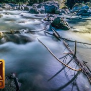 4k nature relaxation video. Water and Forest. Part 4