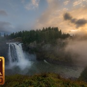 4K Nature Relaxation Footage - Snoqualmie Falls, Washington State