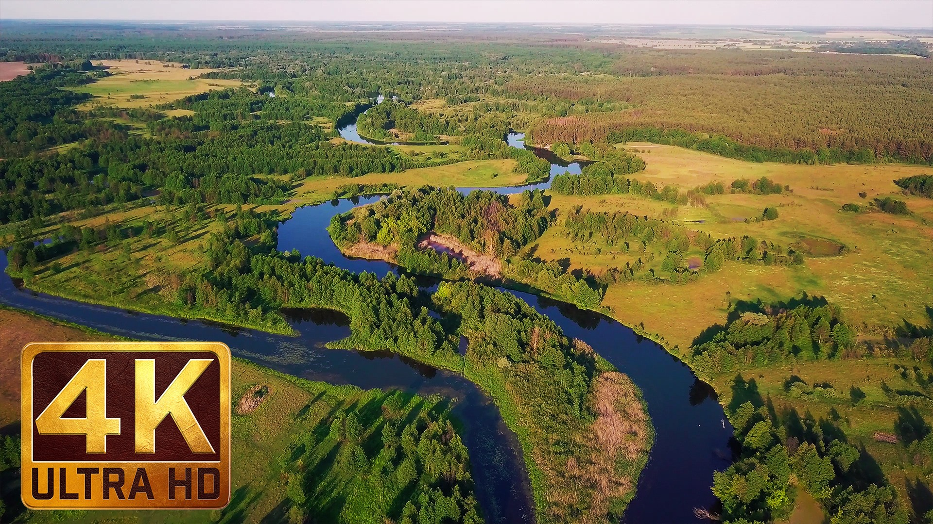 CHARMING UKRAINIAN RIVERS – 4K Aerial Footage