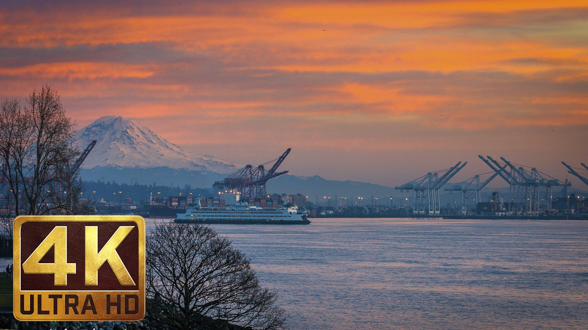 View from Olympic Sculpture Park. Episode 2 – 4K Relax Video