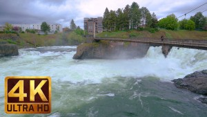 SPOKANE CITY FALLS, EASTERN WASHINGTON trailer