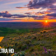 amazing sunset at steptoe butte park
