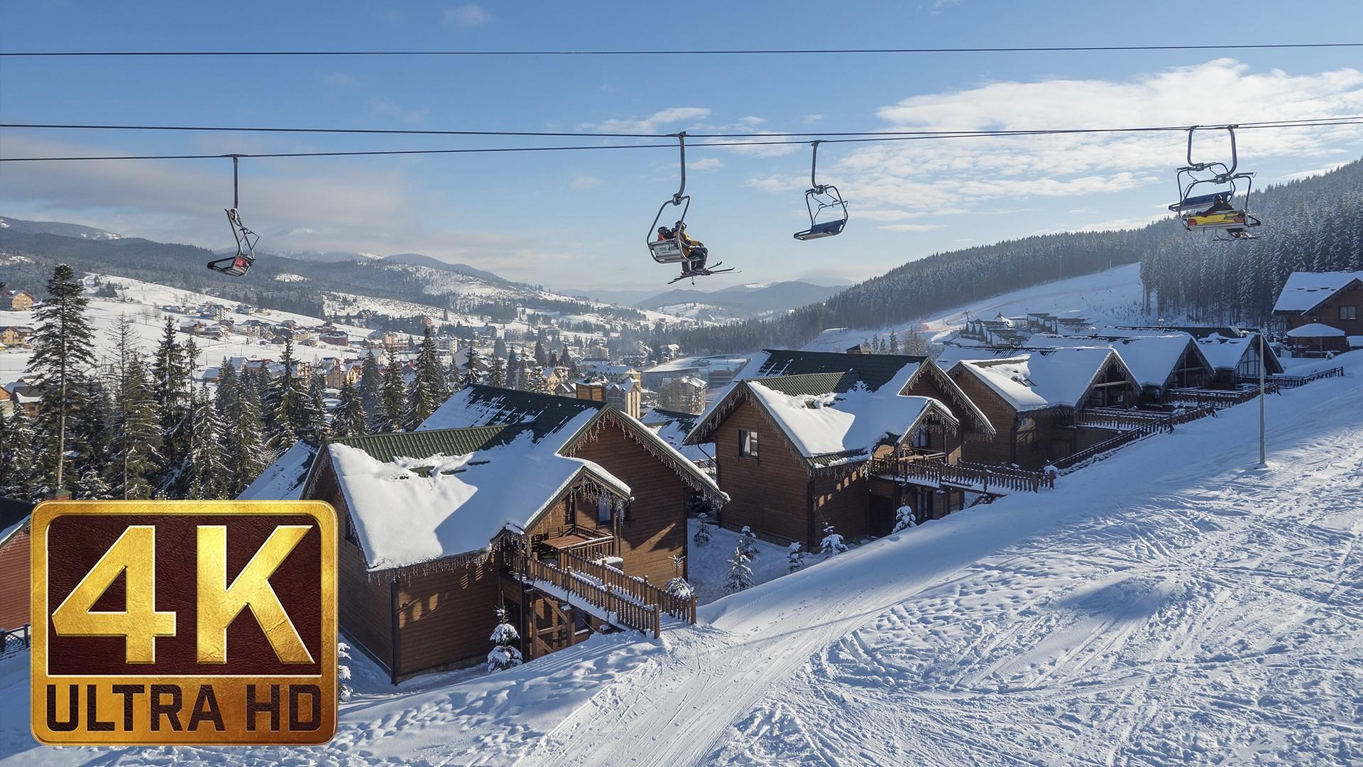 Downhill the Ukrainian Carpathians