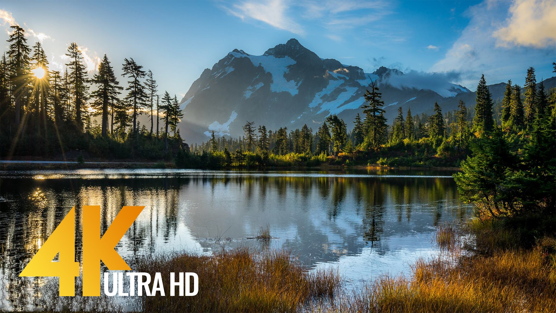 8 Hours of Birds Singing on the Lakeshore and Water Sounds – Relaxing Nature Sounds – Mount Shuksan