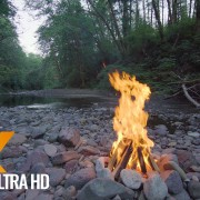 Campfire near the River
