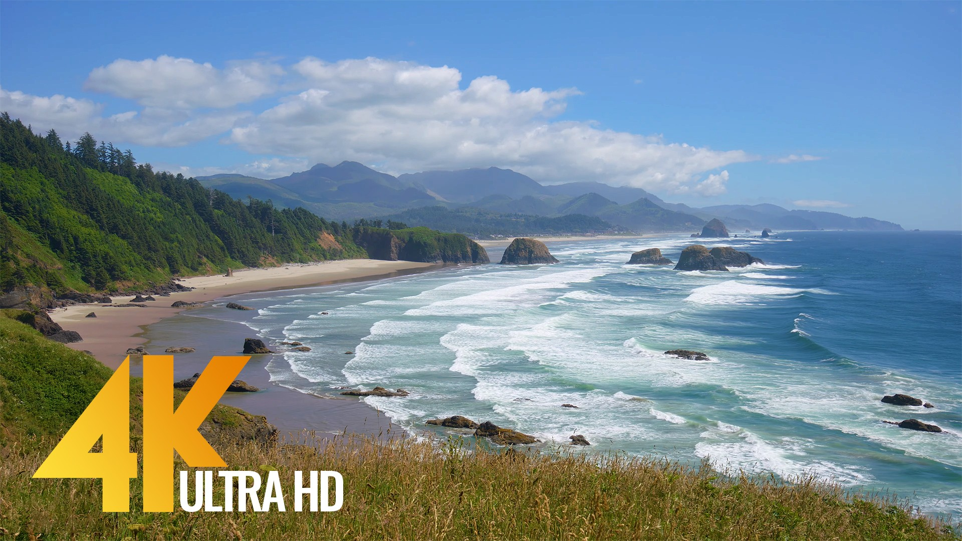 Coastal Oregon.Pacific Ocean.Part 2 – 4K Ocean Views for Destress, Insomnia and Sleep