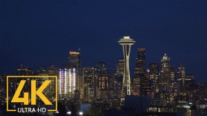 Space Needle and Seattle at Night