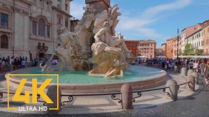 Rome, Italy. Walking Tour in 4K