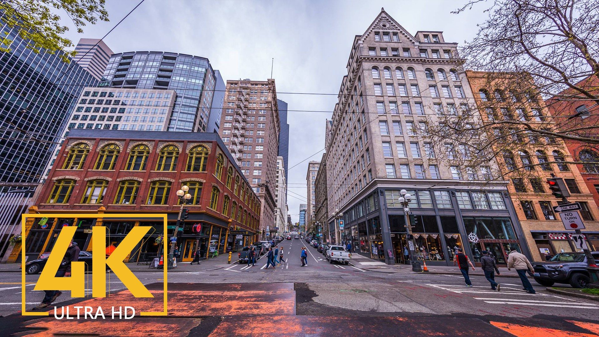 Seattle Downtown_Seattle Streets – VR Relaxation Video