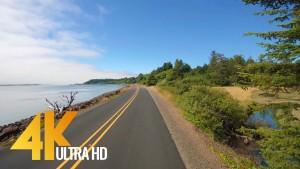 Drive 4K 60fps - Oregon, Cape Lookout Road, USA