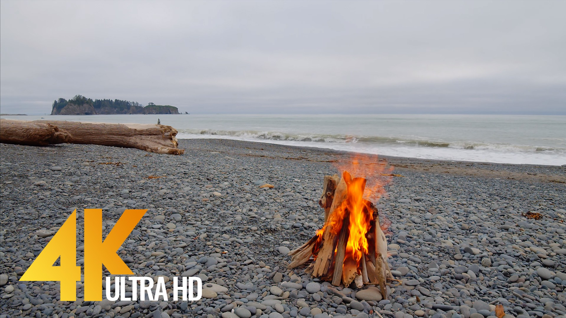 Campfire on Rialto Beach