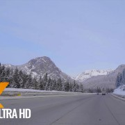 Interstate 90 snoqualmie pass road winter