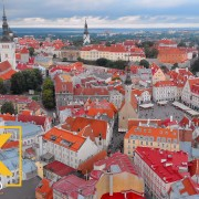Estonia Tallinn from Above Urban Video