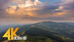 Bird's Eye View of the Carpathian Mountains, Ukraine_1