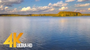 Autumn day at the Gorky reservoir