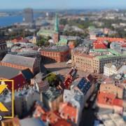 Latvia Aerial View of Riga Urban