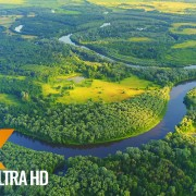 Scenic Rivers of Ukraine from Above, Desna River