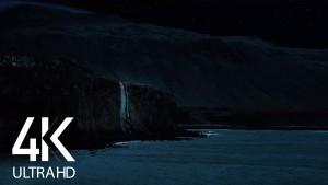 Night Beauty of Icelandic Coastline Night