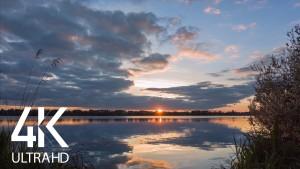 Sunset over the lake, Basiv Kut Lake, Rivne 8 HOURS YOUTUBE