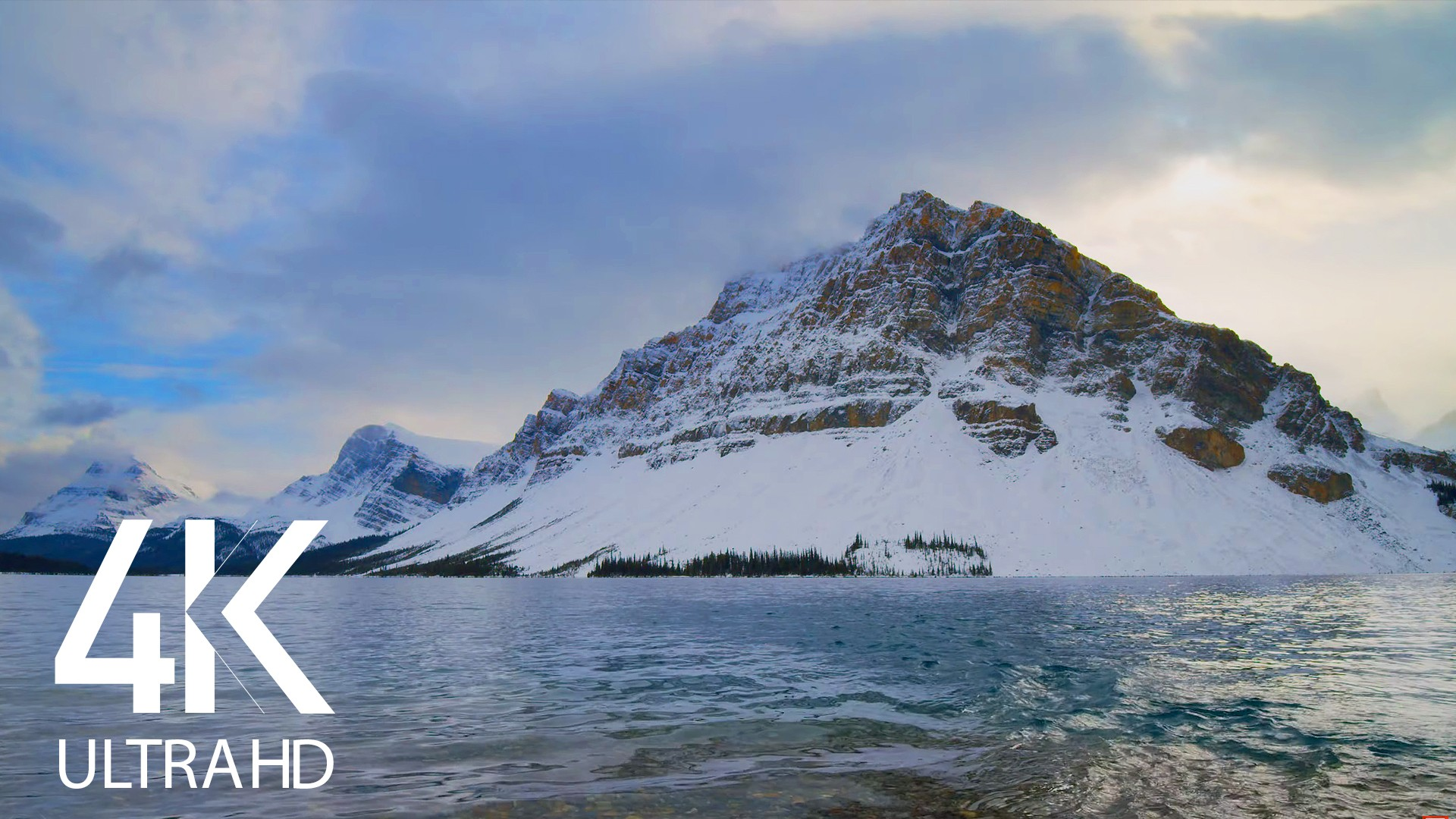 Calming Sounds of Bow Lake, Canada