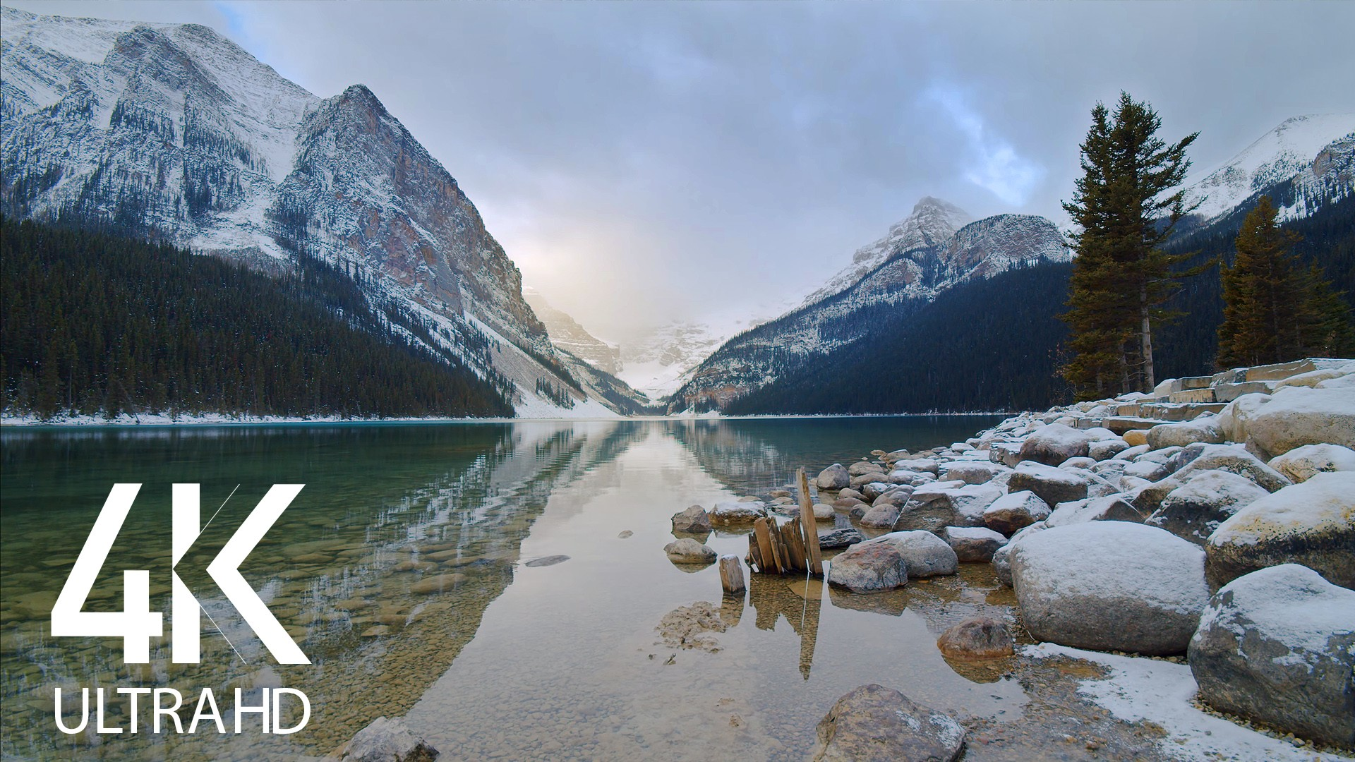 Peaceful Serenity of Winter Lake Louise