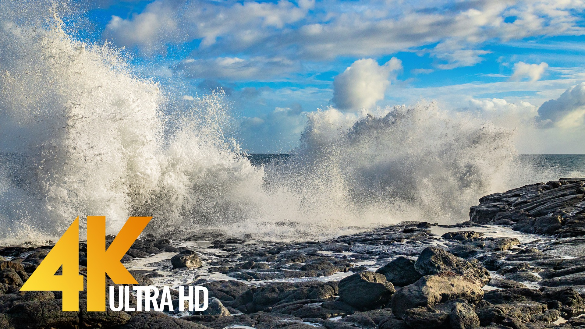 Ocean Waves, Slow Motion Relax Video