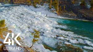 The Winter Beauty of Bow Falls