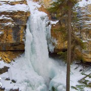 Winter Beauty of Icebound Waterfalls