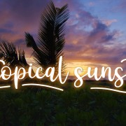 8K Tropical Sunset