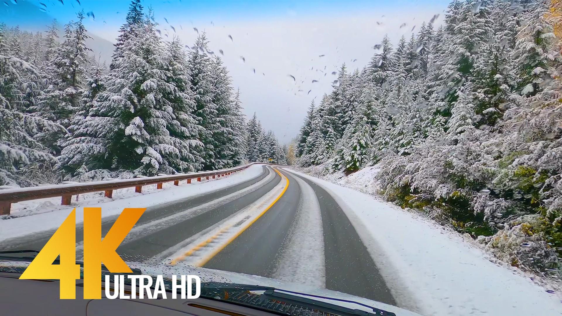 Winter Roads. NOrth Cascades HWY 20
