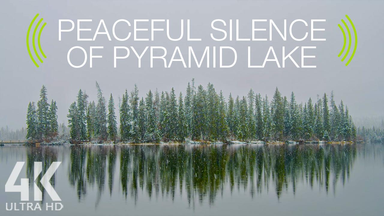 4k The peaceful silence of pyramid lake