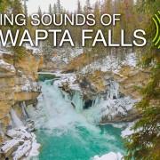 4k Winter Beauty of Sunwapta Falls, Canada 8 HOURS YOUTUBE