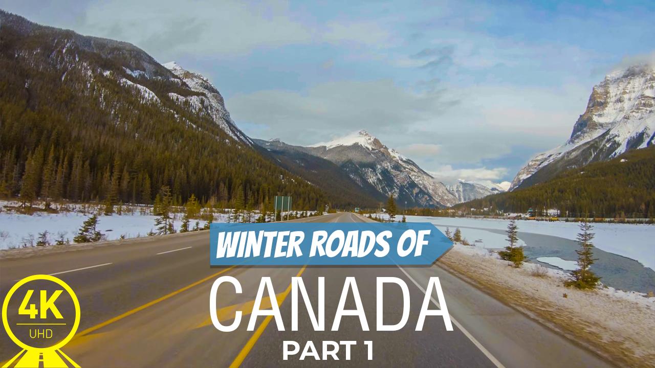 4k Winter Roads of Canada Part 1 Scenic Drive Video YOUTUBE2
