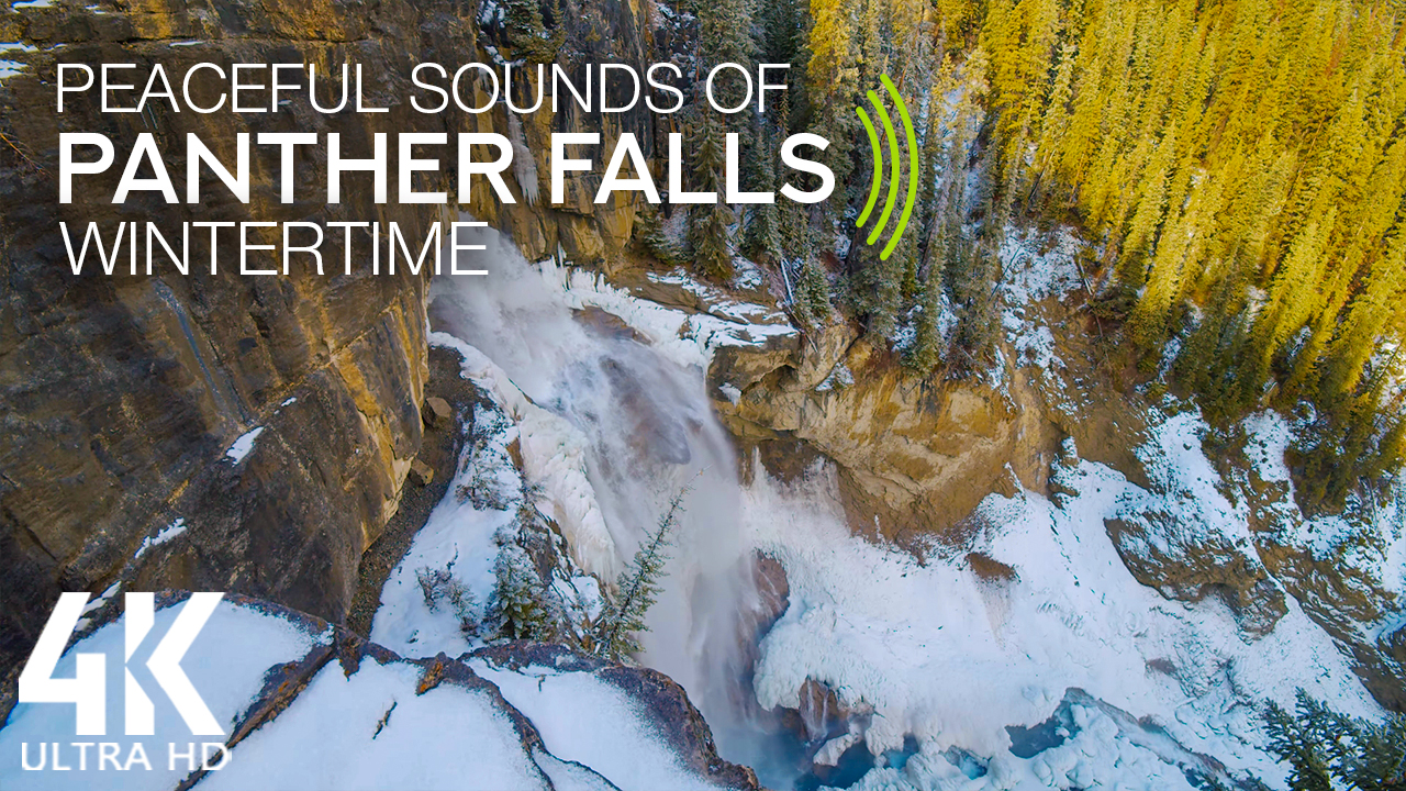 4k_Fascinating_Beauty_of_Panther_Falls_Canada_Wintertime_8_Hours