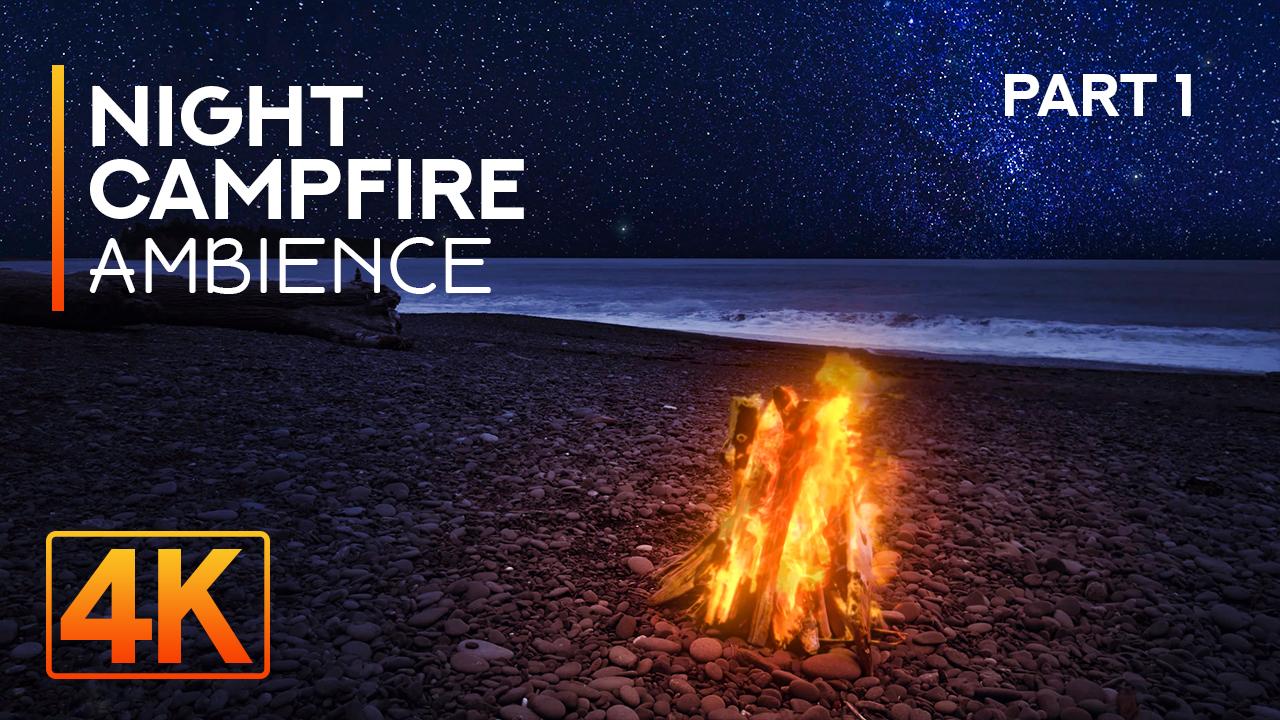 4k_Night_Campfire_1_Olympic_Peninsula,_Rialto_Beach_Nature_Relax