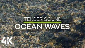 4k Soothing sounds of tender ocean waves 8 hours YOUTUBE